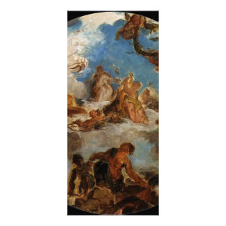 Eugene Delacroix-Sketch for Peace Descend to Earth Customized Rack Card
