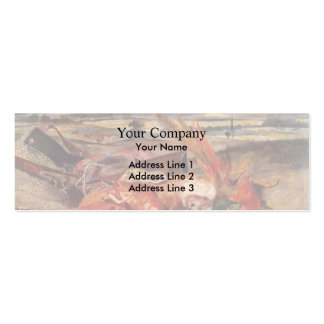 Eugene Delacroix- Still Life with Lobsters Double-Sided Mini Business Cards (Pack Of 20)