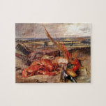 Eugene Delacroix- Still Life with Lobsters Jigsaw Puzzles