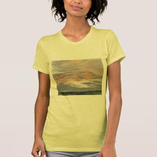 Eugene Delacroix- Study of the Sky at Sunset Tshirt