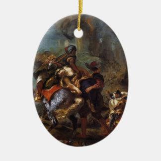 Eugene Delacroix- The Abduction of Rebecca Ornament