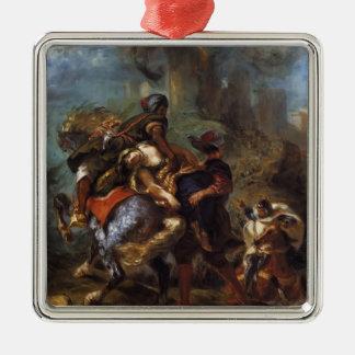 Eugene Delacroix- The Abduction of Rebecca Christmas Tree Ornament