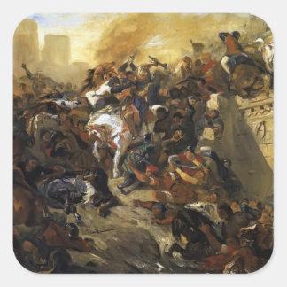 Eugene Delacroix-The Battle of Taillebourg -draft Sticker