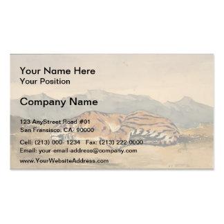 Eugene Delacroix: Tiger Double-Sided Standard Business Cards (Pack Of 100)