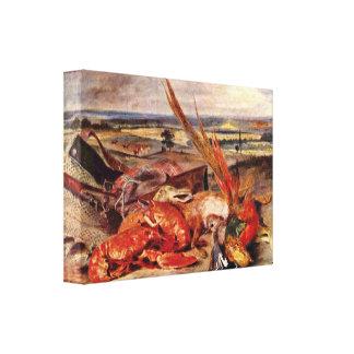 Eugene Delacroix - trofeos de la caza Impresion De Lienzo