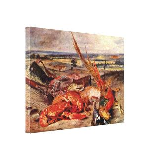 Eugene Delacroix - trofeos de la caza Impresión De Lienzo
