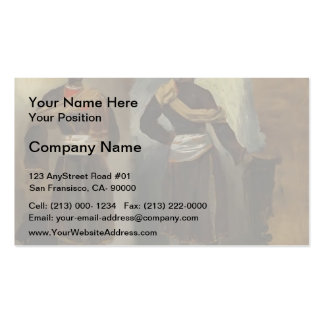 Eugene Delacroix- Two Views of a Standing Indian Double-Sided Standard Business Cards (Pack Of 100)