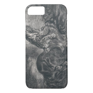 Eugene Delacroix - Wild Horse Felled by a Tiger iPhone 8/7 Case