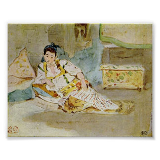 Eugene Delacroix - Women of Algiers (study) Print