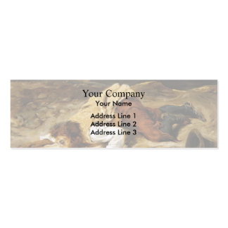 Eugene Delacroix- Wounded Brigand Quenches Thirst Double-Sided Mini Business Cards (Pack Of 20)