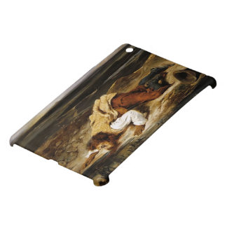 Eugene Delacroix- Wounded Brigand Quenches Thirst iPad Mini Covers