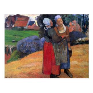Eugène Enrique Paul Gauguin - bretón Famers Postal
