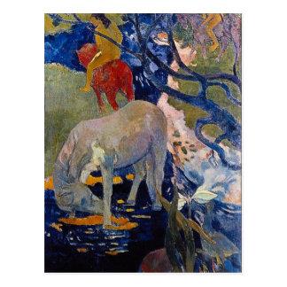 Eugène Enrique Paul Gauguin - el caballo blanco Postal