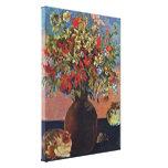 Eugene Enrique Paul Gauguin - flores y gatos Impresión En Lona