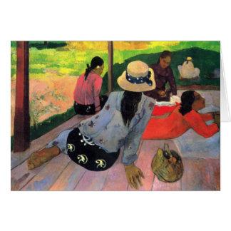 Eugène Enrique Paul Gauguin - hora reservada de la Tarjeta Pequeña
