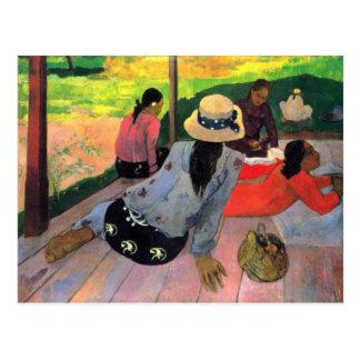 Eugène Enrique Paul Gauguin - hora reservada de la Tarjetas Postales