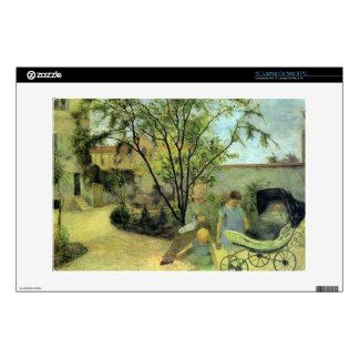 Eugène Enrique Paul Gauguin - jardín en la ruda Calcomanía Para Portátil