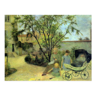 Eugène Enrique Paul Gauguin - jardín en la ruda Tarjeta Postal