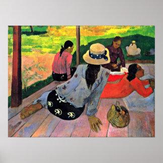 Eugene Enrique Paul Gauguin - la siesta Impresiones