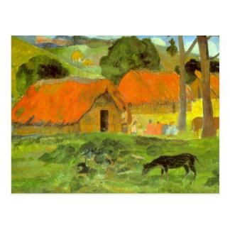 Eugène Enrique Paul Gauguin - Le Trois Huttes Postales