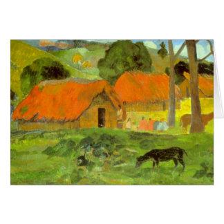 Eugène Enrique Paul Gauguin - Le Trois Huttes Tarjeta De Felicitación