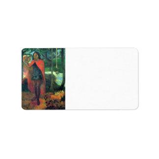 Eugène Enrique Paul Gauguin - mago del Hiva-Oa Etiquetas De Dirección
