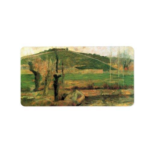 Eugène Enrique Paul Gauguin - mire Sainte Marguer Etiquetas De Dirección