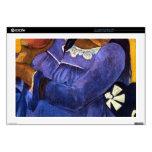 Eugène Enrique Paul Gauguin - mujer con el mango Portátil Calcomanías