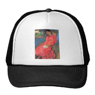 Eugène Enrique Paul Gauguin - mujer en vestido roj Gorras De Camionero