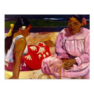 Eugène Enrique Paul Gauguin - mujeres de Tahití Postales