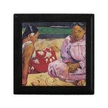Eugène Enrique Paul Gauguin - mujeres de Tahitian  Caja De Joyas
