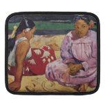 Eugène Enrique Paul Gauguin - mujeres de Tahitian  Fundas Para iPads