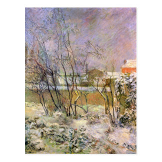 Eugène Enrique Paul Gauguin - nieve en la ruda Tarjeta Postal