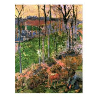 Eugène Enrique Paul Gauguin - pequeño Sh de madera Tarjetas Postales