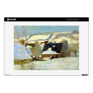 Eugène Enrique Paul Gauguin - pueblo bretón en nie Skins Para Portátil