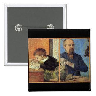 Eugène Enrique Paul Gauguin - retrato del escultor Pin