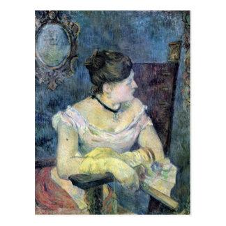 Eugène Enrique Paul Gauguin - señora Gauguin Postales