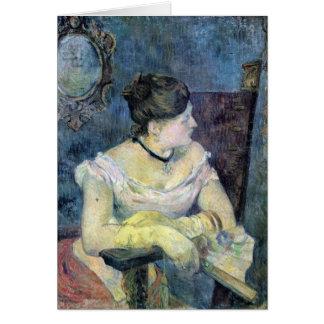 Eugène Enrique Paul Gauguin - señora Gauguin Tarjeta De Felicitación