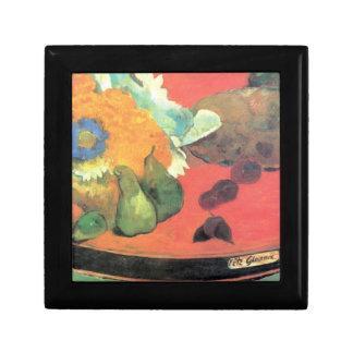 Eugène Enrique Paul Gauguin - todavía vida con fet Cajas De Joyas