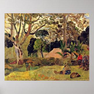 Eugene H Paul Gauguin - el árbol grande Poster