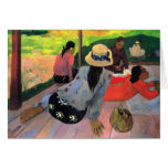 Eugène Henri Paul Gauguin - Afternoon Quiet Hour Stationery Note Card
