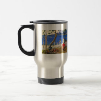 Eugène Henri Paul Gauguin - Beach Scene 15 Oz Stainless Steel Travel Mug