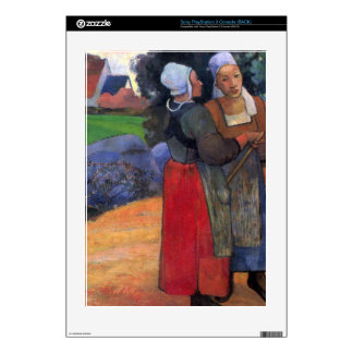 Eugène Henri Paul Gauguin - Breton Famers Decal For The PS3