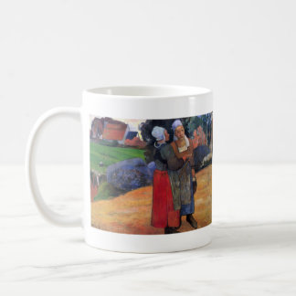 Eugène Henri Paul Gauguin - Breton Famers Classic White Coffee Mug