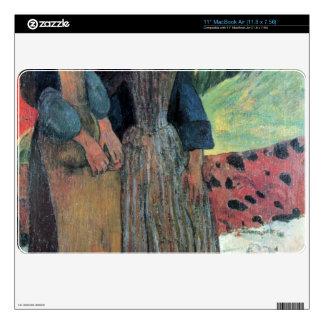 "Eugène Henri Paul Gauguin - Breton Near sea 11"" MacBook Air Decal"
