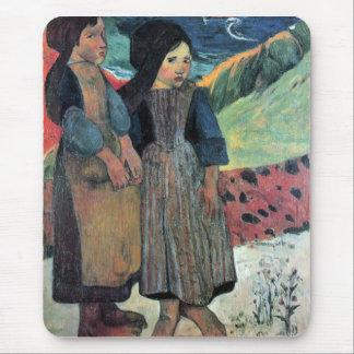 Eugène Henri Paul Gauguin - Breton Near sea Mouse Pad