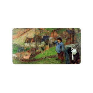 Eugène Henri Paul Gauguin - Breton Shepherd Address Label