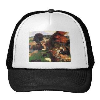 Eugène Henri Paul Gauguin - Breton Shepherds Mesh Hats