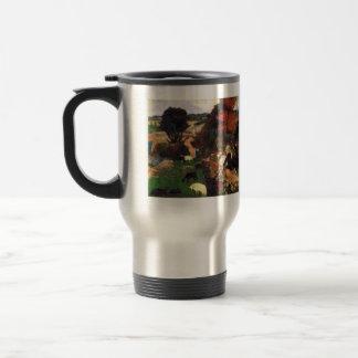 Eugène Henri Paul Gauguin - Breton Shepherds 15 Oz Stainless Steel Travel Mug