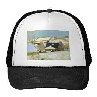 Eugène Henri Paul Gauguin - Breton Village in Snow Hats